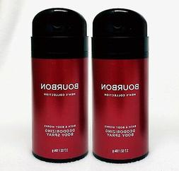 2 Bath & Body Works BOURBON Men's Collection Deodorizing Sce
