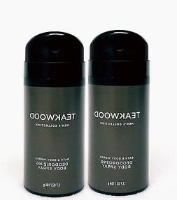 2 Bath & Body Works TEAKWOOD Men's Collection Deodorizing Sc