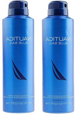 Nautica Blue Sail Deodorizing Body Spray 6 oz Each NEW
