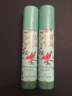 2 pack ~WIND SONG by Prince Matchabelli Body Spray~On the go