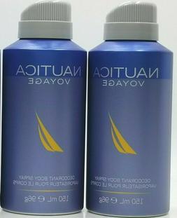 2-NAUTICA VOYAGE  by Nautica Deodorant Body Spray for Men Or