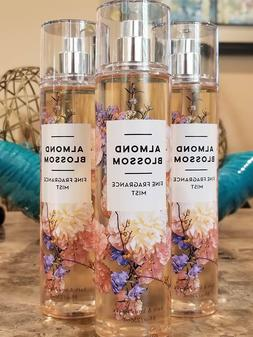 3 Bath & Body Works ALMOND BLOSSOM Fine Fragrance Mist Body