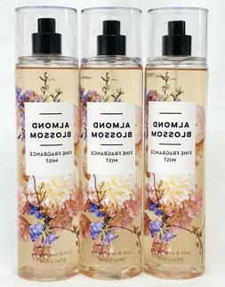 3 Bath & Body Works ALMOND BLOSSOM Fine Fragrance Mist Body