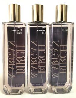 3 Bath & Body Works BIRCH & ARGAN Fine Fragrance Mist Body S