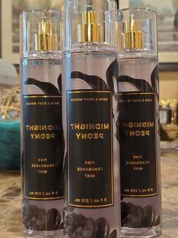 3 Bath & Body Works MIDNIGHT PEONY Fine Fragrance Mist Body