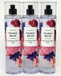 3 Bath & Body Works VIOLET PLUM Fine Fragrance Mist Body Spr