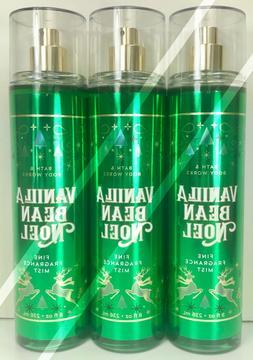 3 BATH BODY WORKS*VANILLA BEAN NOEL*Fragrance Mist Spray*Fre