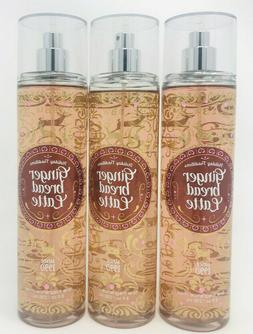 3 Bath & Body Works GINGER BREAD LATTE Fragrance Mist Body S