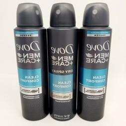3 Pk Dove Men Care Clean Comfort 48HR Antiperspirant Deodora