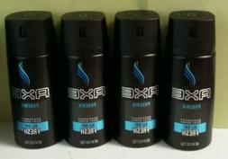 4 Pack Axe Body Deodorant Spray, Phoenix 4 oz Each all day f