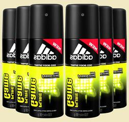 6 Pack Adidas Men's Deodorant Body Spray Fresh Power Long La