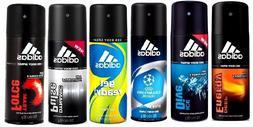 6 x ADIDAS Deodorant 24h FRESH Power MEN Body Spray 5oz /150