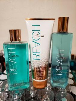AT THE BEACH BATH AND BODY WORKS PRIORITY SHIP LOT OF 3 BODY