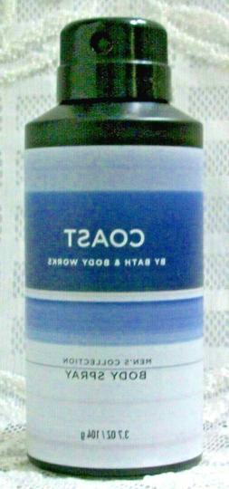 Bath & Body Works COAST Men's Deodorizing Body Spray mist 8