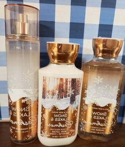 BATH & BODY WORKS LOT 3, BODY WASH, LOTION & MIST SPRAY SNOW