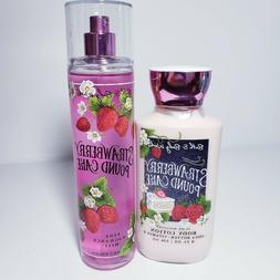 Bath & Body Works Strawberry Pound Cake Body Lotion Mist Spr