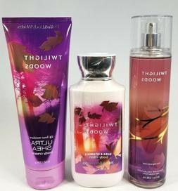 Bath Body Works TWILIGHT WOODS Mist Spray Body Lotion Cream