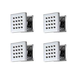 4 pcs Bathroom Water Saving Shower Square Solid Brass Body S