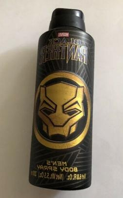 Marvel Black Panther Men's Body Spray, Black and Gold, 6.8 O