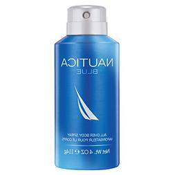 Nautica Blue Deodorizing Body Spray for Men, 4 oz., Male Bod