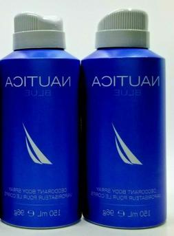 NAUTICA BLUE Deodorant Body Spray For Men 5.0oz 150ml * New