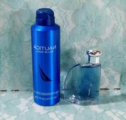 NAUTICA BLUE SAIL For Men 1.7 oz EdT Spray & 6 oz Deodorizin