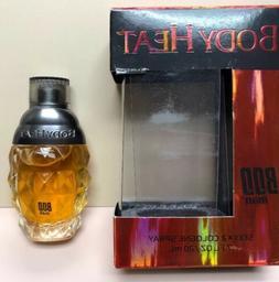 BODY HEAT For Men! Cologne Spray 0.7 oz! By Parfums De Coeur