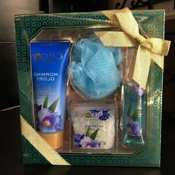 CALGON*4pc Body Care Set MORNING GLORY Bath Salts+Spray+Wash