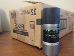 case of 32 Axe Proximity BERGAMOT Deodorant Body Spray 1 oz