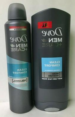 Dove Clean Comfort 250 ml Spray & Body & Face Wash Gel 400 m