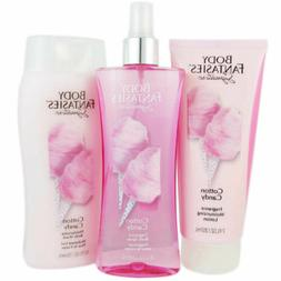 Body Fantasies Cotton Candy 3 PC Set (Moisturizing Lotion, B