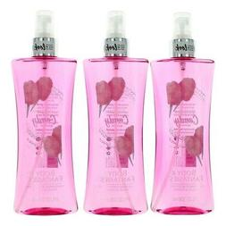 Cotton Candy by Body Fantasies, 3 Pack 8 oz Fragrance Body S
