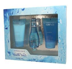 Cool Water Perfume by Davidoff Set - 1 oz EDT Spray, 1.7 oz