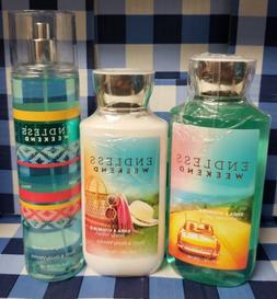 ENDLESS WEEKEND LOT 3 Bath Body Works PRIOR SHIP, LOTION, BO