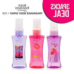 3-Pack! PARFUMS DE COEUR Body Fantasies Fragrance Body Spray