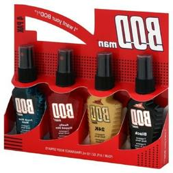 BOD Man 4PK Frag Body Sprays Black-Really Ripped Abs-Most Wa