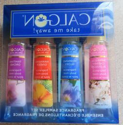 Calgon Fragrance Sampler Body Mist Spray 2.0 oz x 4 - Gift S