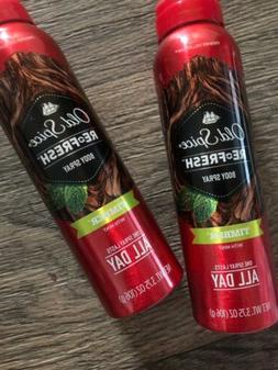 Old Spice Fresh Collection Refresh Timber Body Spray 2 Bottl