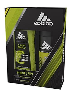 Adidas Pure Game 2 Piece Gift Set, 3 in 1 Shower Gel, Shampo