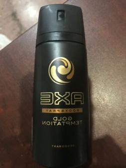 Axe Gold Temptation Mens Deodorant Body Spray, 150ml 4 Cans