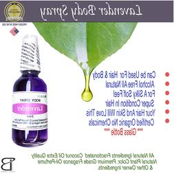 HAIR & BODY ESSENTIAL OIL AROMATHERAPY  LAVENDER PERFUME SPR