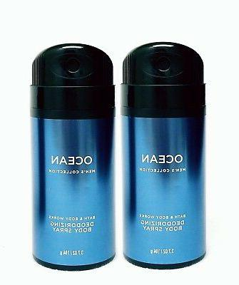 2 Bath & Body Works OCEAN Men's Collection Deodorizing Scent