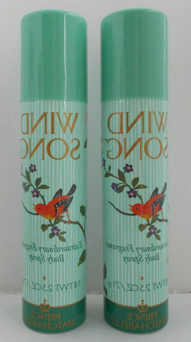 2x windsong body spray approved air travel