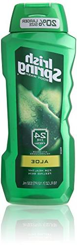Irish Spring Body Wash, Aloe, 18 Fluid Ounce