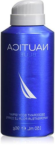 NAUTICA Deodorant Body Spray for Men, Blue, 5 Ounce