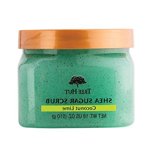 Tree Hut Shea Sugar Scrub, Coconut Lime, 18 Ounce
