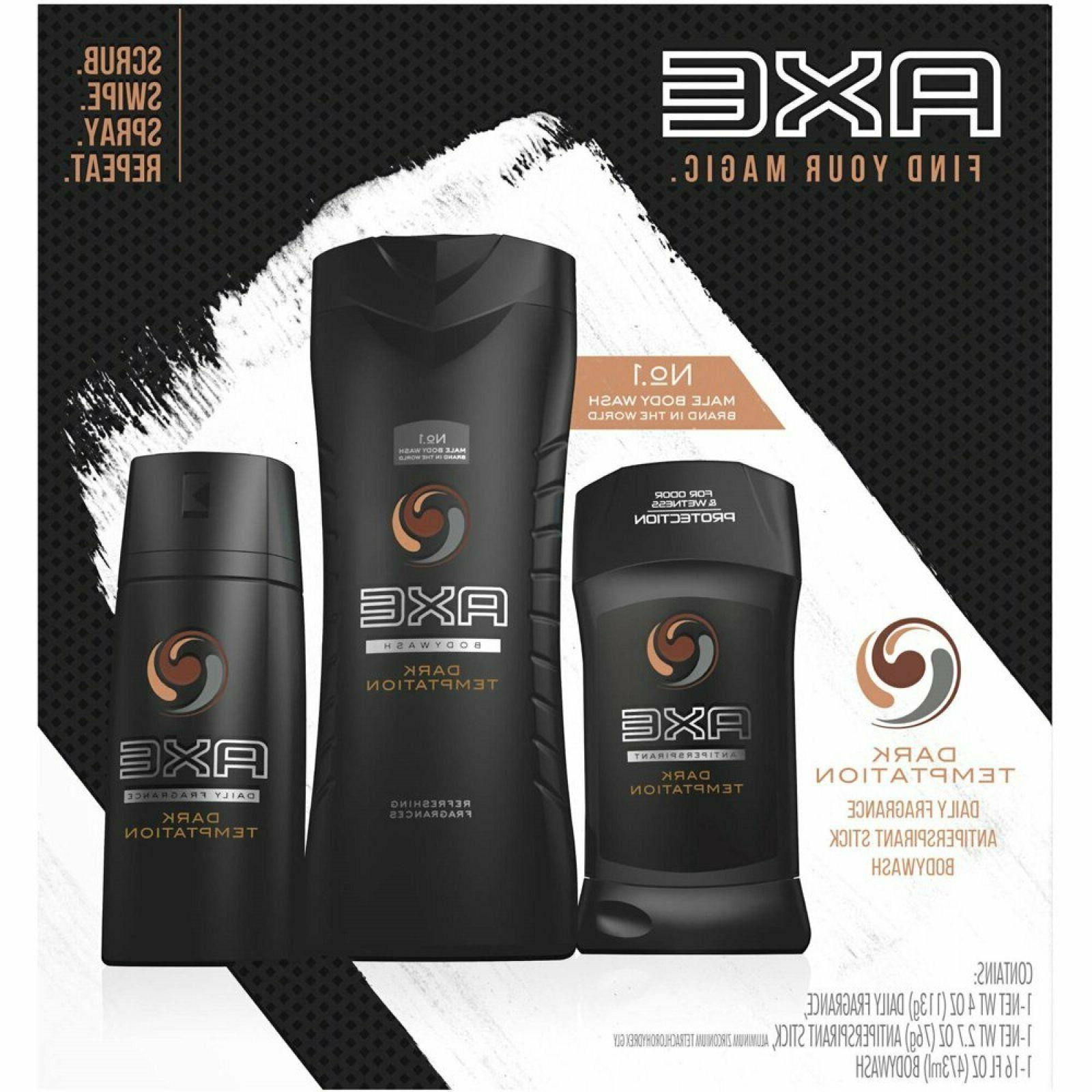 AXE Regimen Gift Set Men Dark Temptation Deodorant Stick Bod