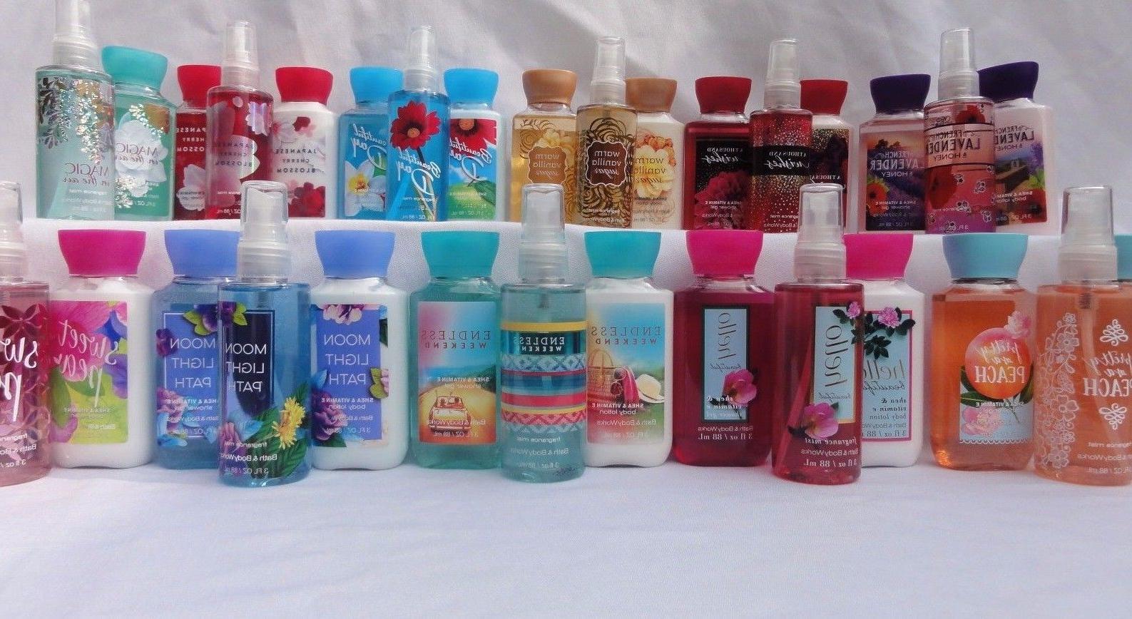 BATH & BODY WORKS Lot of 3 Travel Size set Spray Lotion Show
