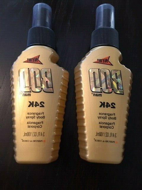 bod 24k body spray 2 bottles