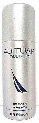 NAUTICA CLASSIC DEODORANT Body Spray FOR MEN 5.0 Oz / 150 ml